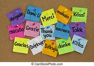 Thank you in different languages - Thank you in sixteen...