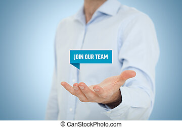 Join our team - Headhunter (recruiter) hold virtual label...