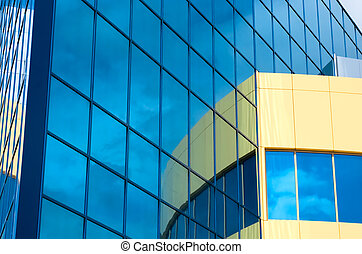 Fragment office building - New office building Fragment of...