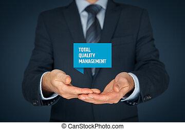 Total, gerência, qualidade