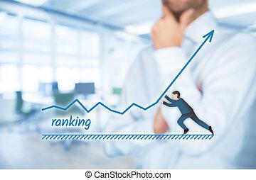 Increase ranking - Businessman plan to increase ranking of...