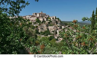 Gordes Small Town In France - View of Gordes, famous village...