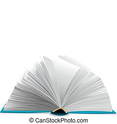 Open book - Open book on white background