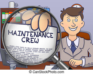 Maintenance Crew through Lens Doodle Style - Maintenance...