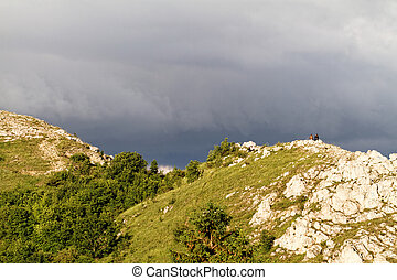 Hilly area - Photo of the hilly area with stormy sky