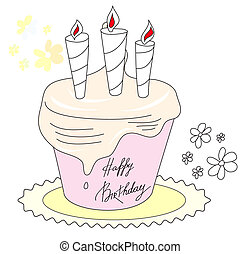 Greeting card with inscription happy birthday