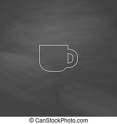 Cup computer symbol - Cup Simple line vector button...
