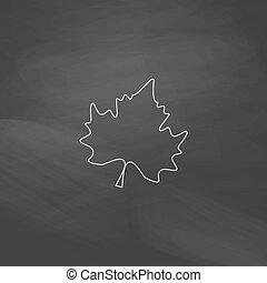 Maple Leaf computer symbol - Maple Leaf Simple line vector...
