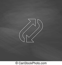 rotation computer symbol - rotation Simple line vector...