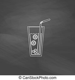 lemonade computer symbol - lemonade Simple line vector...