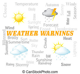 Weather Warnings Shows Meteorological Conditions And Caution...