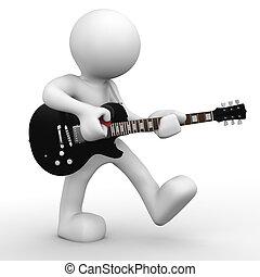 The guitarist - 3D human playing guitar