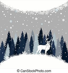 Vector background with winter