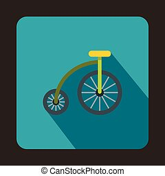 Bicycle for children icon, flat style - Bicycle for children...