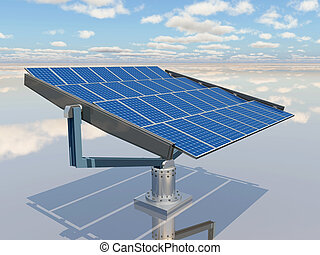 Solar panel - Computer generated 3D illustration with a...