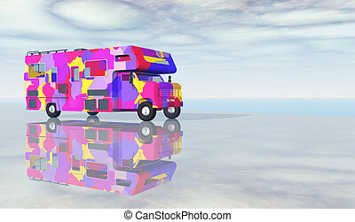 Recreational vehicle - Computer generated 3D illustration...