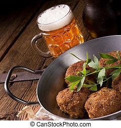 Frikadeller - pan-fried dumplings