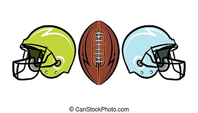Hand Drawn American Football Illustration - Hand drawn...