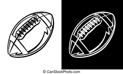 American Football Emblem Icon Illustration - An American...