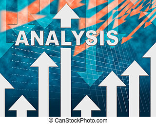 Analysis Graph Shows Data Analytics And Research