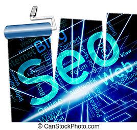 Online Seo Shows Website Optimization 3d Illustration