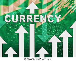 Currency Graph Indicates Fx Trading And Exchange - Currency...
