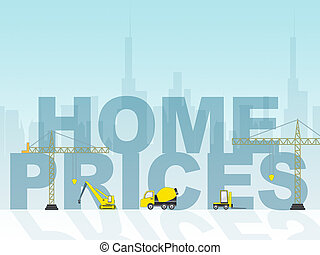 Home Prices Shows Houses Cost 3d Illustration