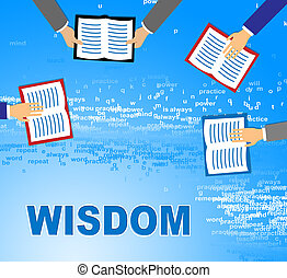 Wisdom Books Shows Education Fiction And Knowledge