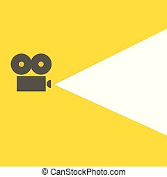 flat video projector icon