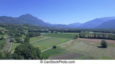 4K Aerial, Mont De La Coche, France - 4K Aerial, Flying...
