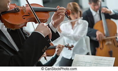Classical music symphony orchestra performance - Confident...