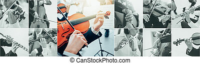 Classical Music Collage - Classical music collage of...
