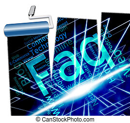 Faq Word Indicates Frequently Asked Questions And Answers -...