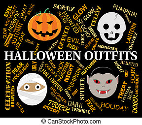 Halloween Outfits Shows Trick Or Treat Clothes - Halloween...