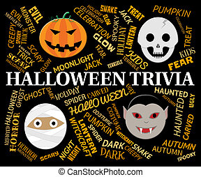 Halloween Trivia Indicates Trick Or Treat Knowhow -...