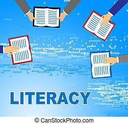 Literacy Books Shows Literature Reading And Ability -...