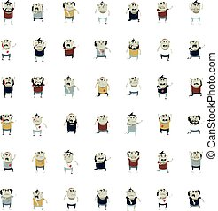 Big set of zombie icons - Vector image of the set of zombie...
