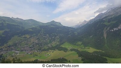 4K Aerial, Col De La Croix, Swiss - 4K Aerial, Flying At Col...