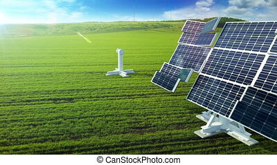 Grow up building solar panel generating energy - Grow up...