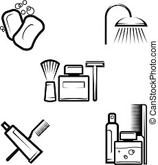 Hygiene objects - Set of hygiene objects as a lifestyle...