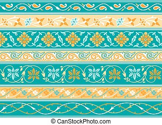 Decorative persian borders done as samples and vector...