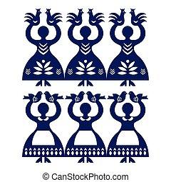 Polish folk art pattern Wycinanki