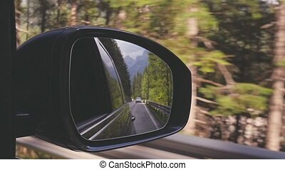 Traveling by car. Motion. Car on the road - Travel. View...