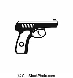 ícone, simples, estilo, arma