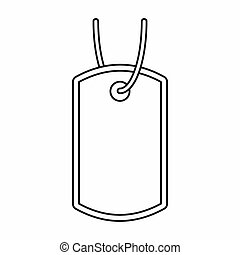 Identification army badge icon, outline style - icon in...