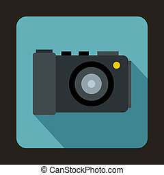 Camera icon in flat style - icon in flat style on a baby...