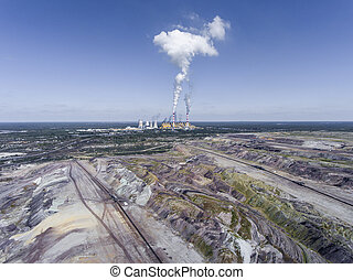 Surface coal mining and power station in Poland Destroyed...