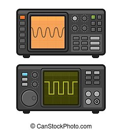Digital Oscilloscope Set. Vector - Digital Oscilloscope Set...