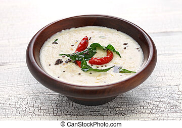coconut chutney, indian food - homemade coconut chutney,...