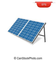 solar panel, renewable energy, vector illustration